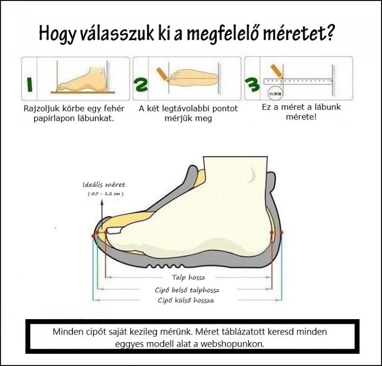 Hogy válasszunk cipőméretet