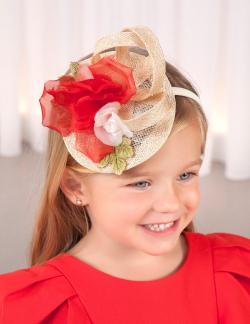 ABEL&LULA hajpánt - kis kalap 5427-052 Red