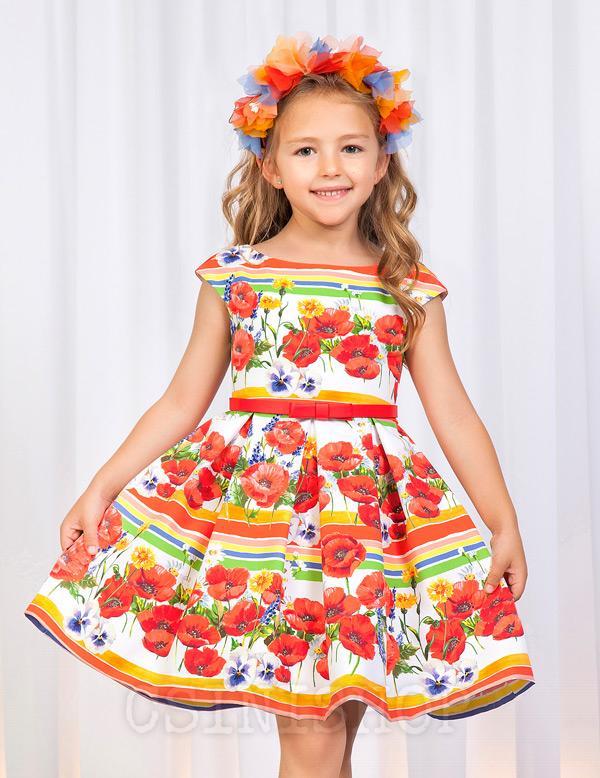 Lányos virág nyomatos ruha ABEL&LULA