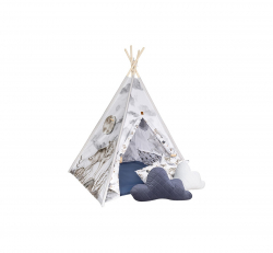 TeePee gyermek sátor Teddy párnákkal