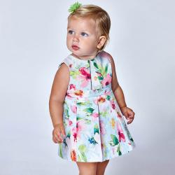 MAYORAL mintás kislány ruha 1968-011 pistacio